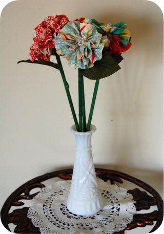 Fabric Flower Bouquet Tutorial by Going Sew Crazy